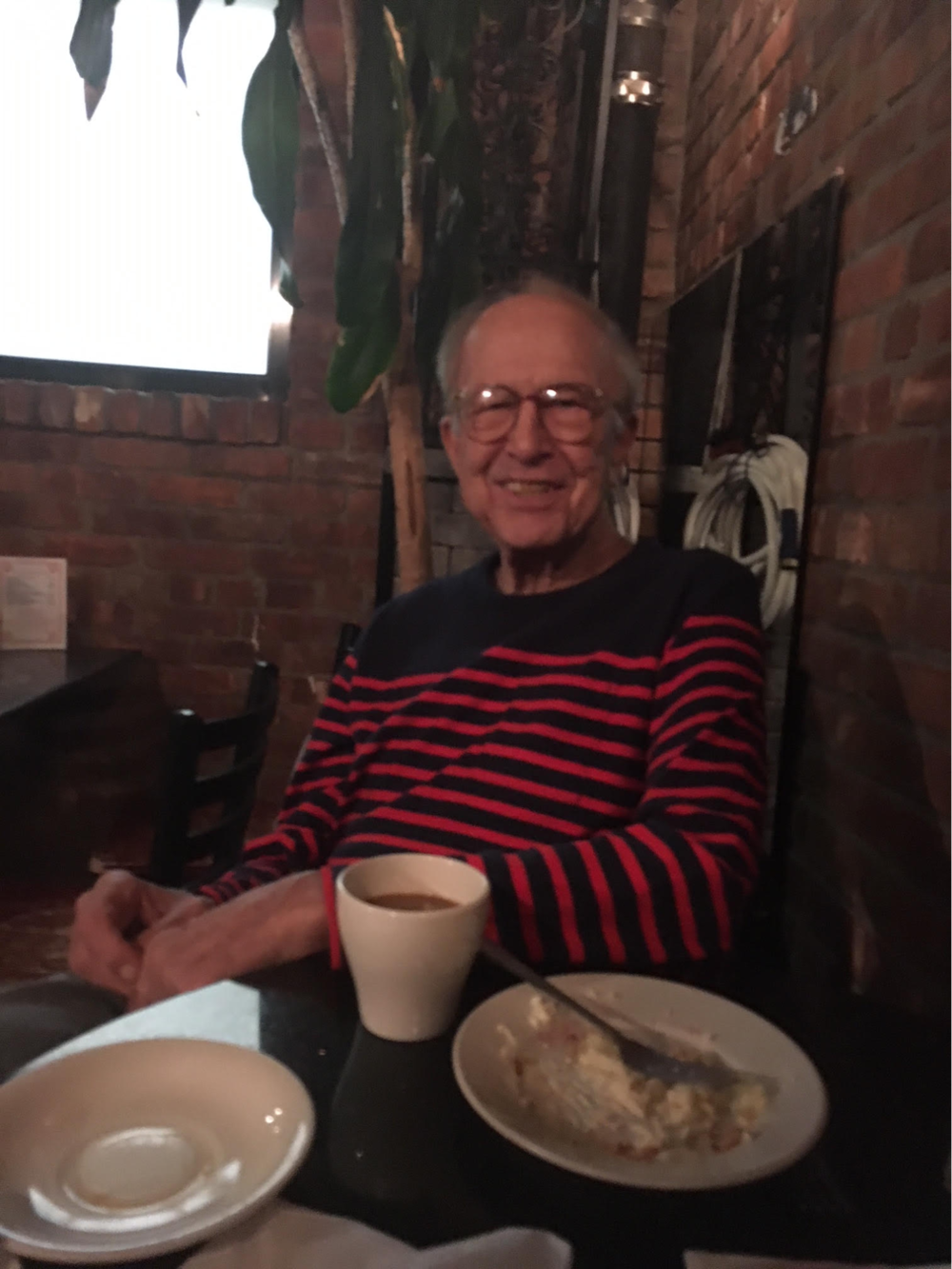Robert Heide at Rocco's, 2018