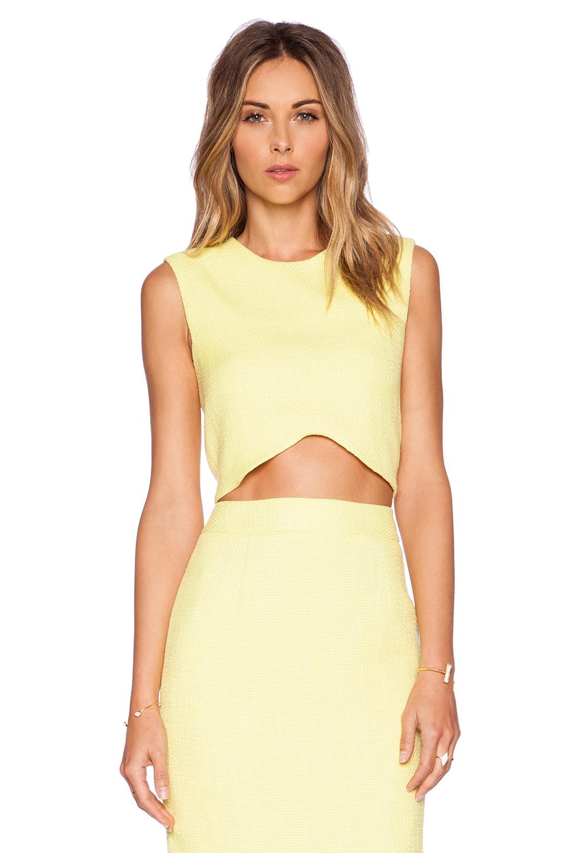 Blaque Label Yellow Crop Top