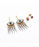 Loli Bijoux Isla (Evil Eye) Stud + Ear Jacket Set  available  HERE.