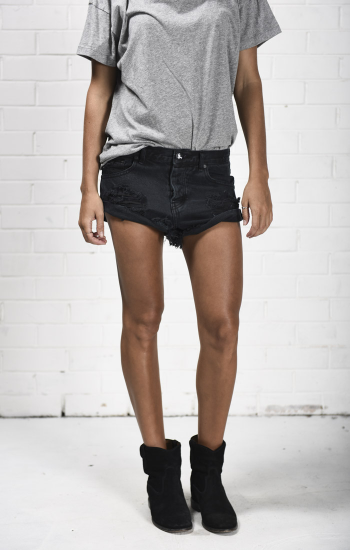 One Teaspoon Black Shorts
