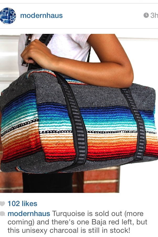 mexican blanket bag