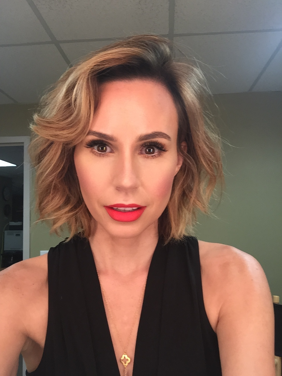 Keltie Knight Red Lip
