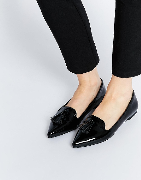 A nice pair of flats are a great alternative to a heel. I love a patent leather flat because I can still get a polished look even when I pair them with jeans. My assistant got me into these because I always thought flats were for losers....i guess not! Get them HERE!