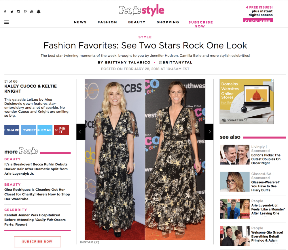 KELTIE KNIGHT PEOPLE STYLE KALEY CUOCO