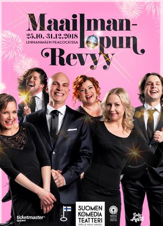 MAAILMANLOPUN REVYY   Maailmanlopun Revyy Peacock-teatterissa 25.10.-31.12.2018