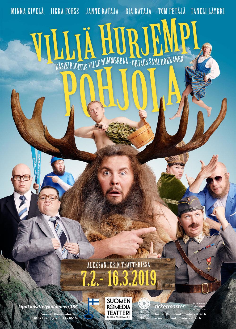 VILLIÄ HURJEMPI POHJOLA   7.2.-16.3.2019 Aleksanterin Teatterissa