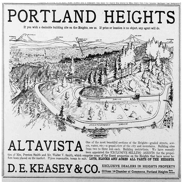 Portland heights note. D.E. Keasey and Co. business and accounting note.