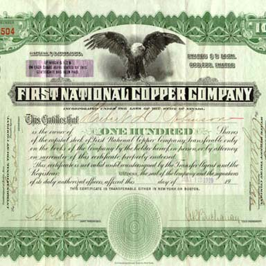 First national copper company note for business solutions.