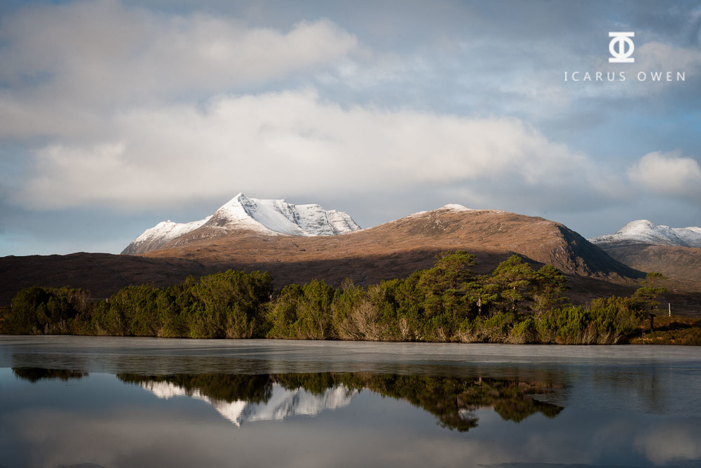Loch Cul Dromannan in Assynt, Scotland.