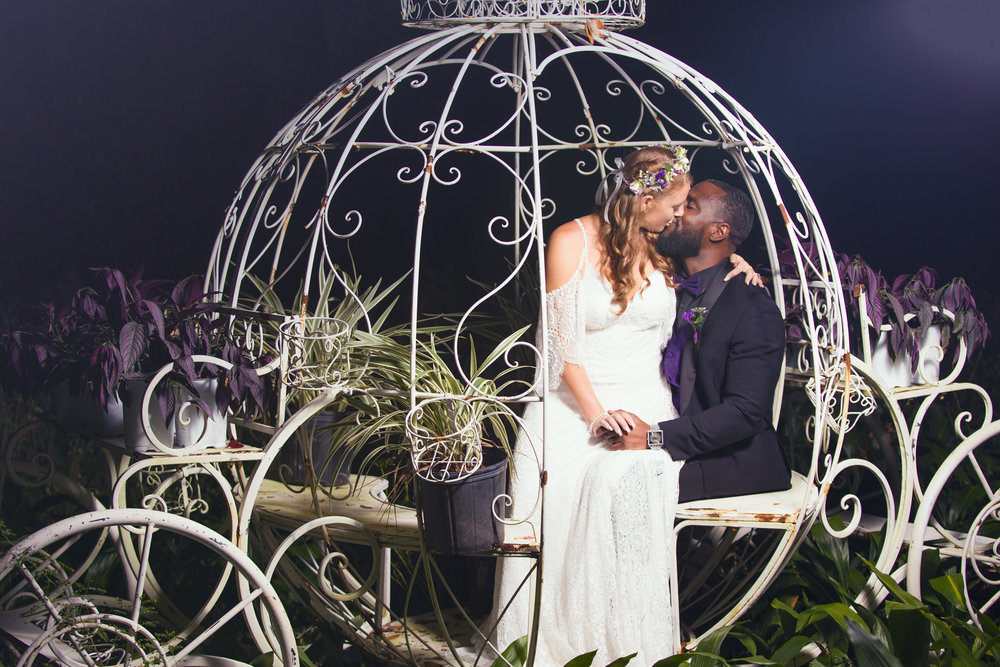 Kiss of Love at Harmony Gardens in De Leon Springs FL - Chamber Photography Moments by Antoine Hart