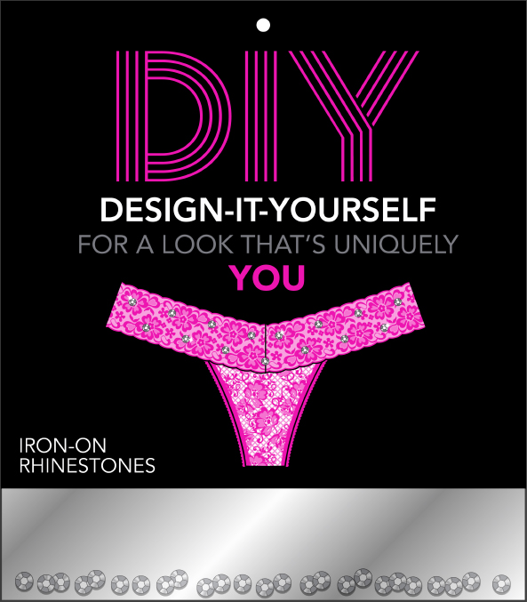 DIY Rhinestone Panty Packaging