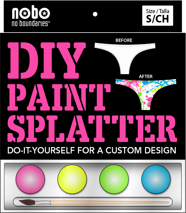 DIY Paint Splatter Panty Packaging