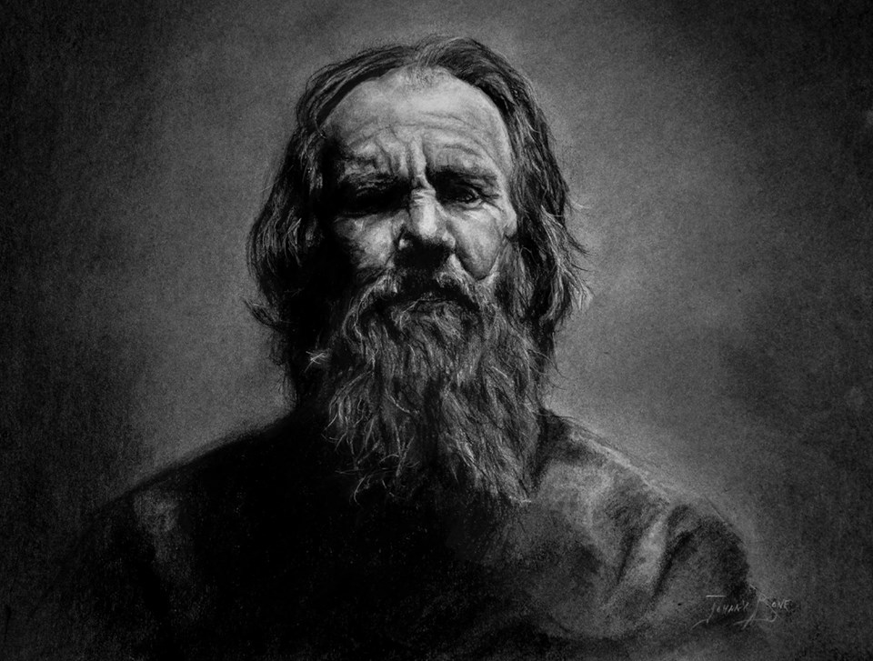 "The Apostle Paul - 16' x 20"" - Charcoal"