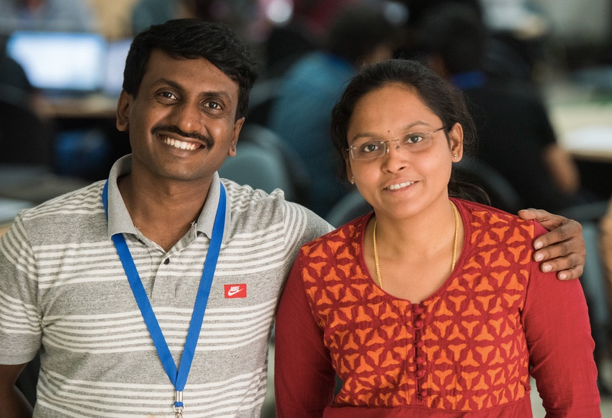 Ramakrishna R., Google Software Engineer and his wife
