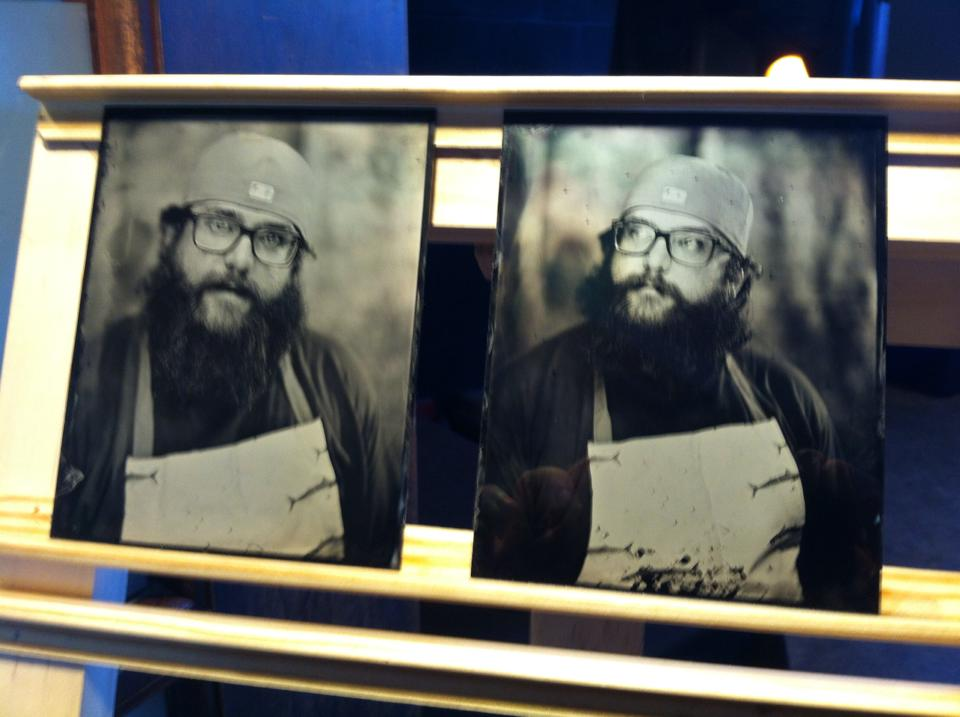 Two test plates of Bryan, showing his entire range of emotional expression.