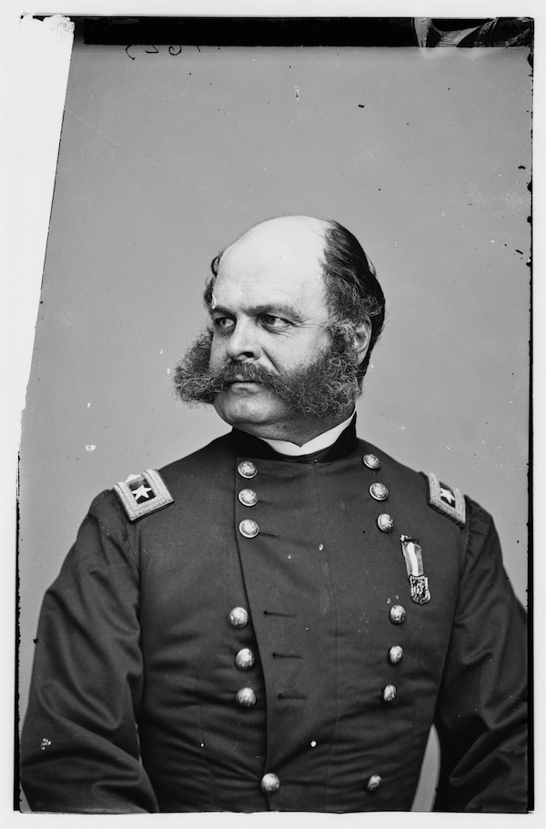 "General Ambrose Burnside, whose inspired form of facial adornment is the origin of the term ""sideburns"""