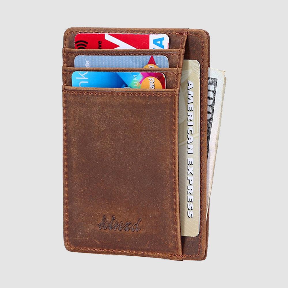Kinzd Slim Wallet, $10 Amazon