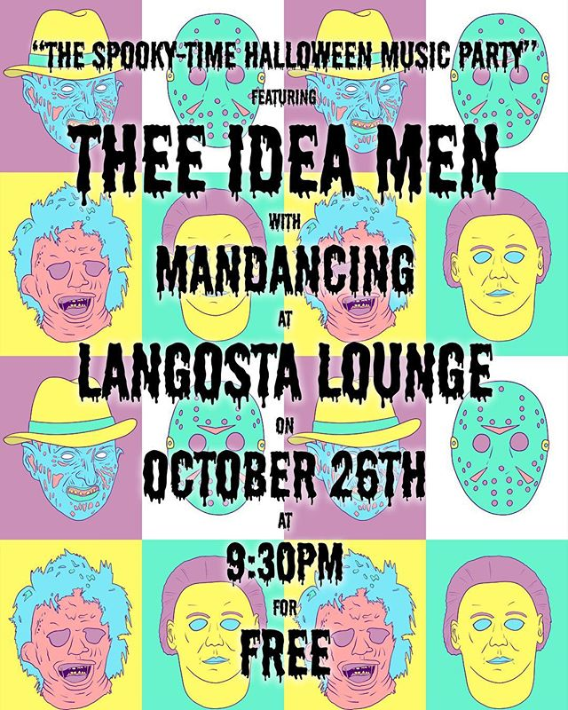 TONIGHT!! Come party with us and @mandancing at @langostalounge Halloween style!! And wear some costumes why dontcha?? Show starts at 9:30!