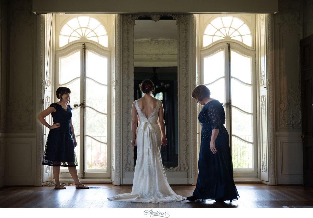 Cylburn Arboretum wedding photojournalism bride dress mansion