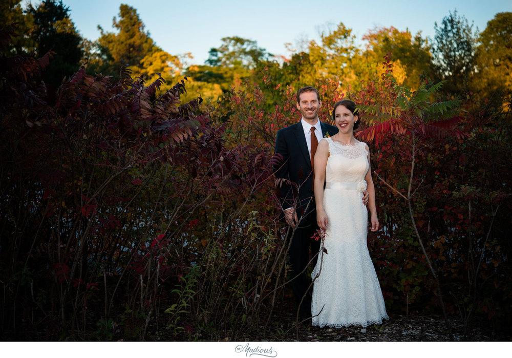 Cylburn Arboretum wedding bride and groom