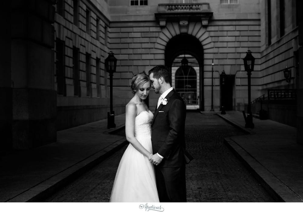 Bride groom portraits Reagan building