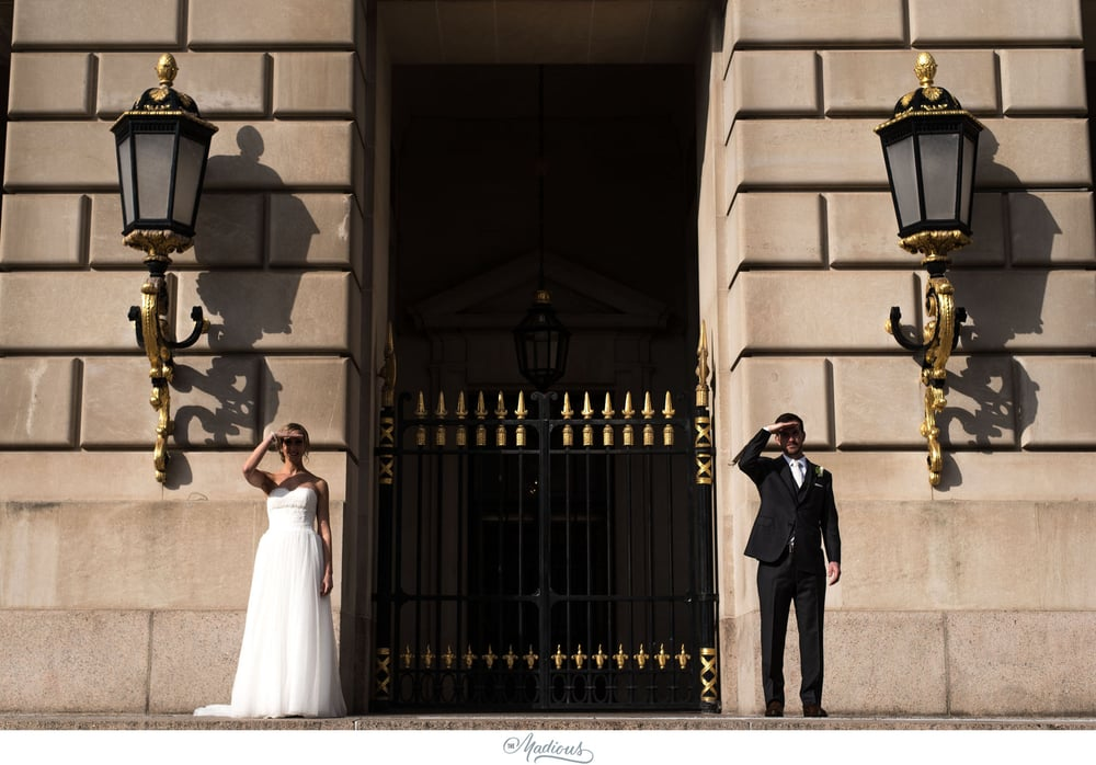Bride groom portraits Reagan building