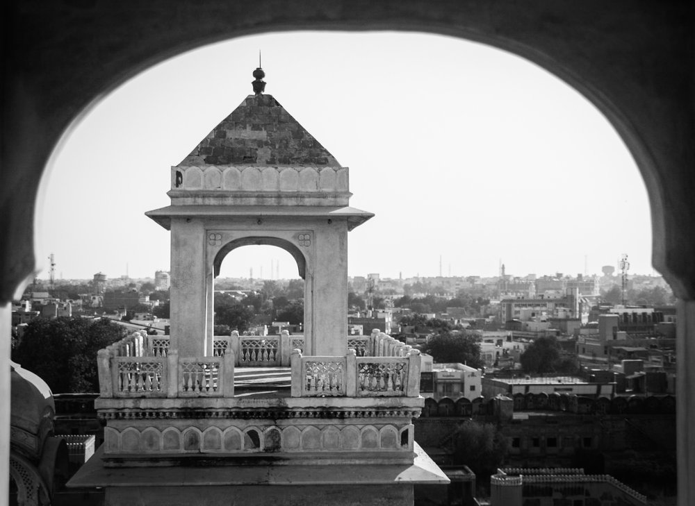 View from the Junagarh palace in Bikaner, Rajasthan.