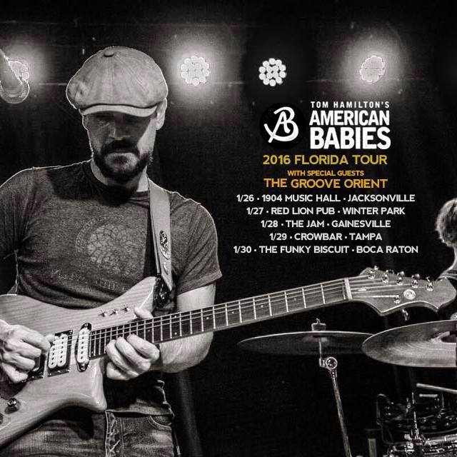 We are thrilled to be direct support for Tom Hamilton's American Babies for their FL Tour!