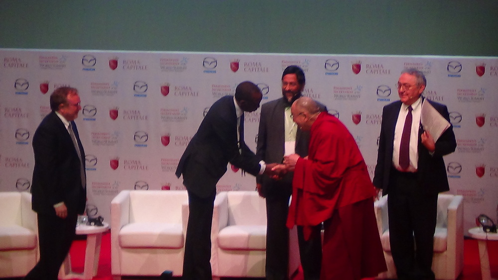 American Friends Service Committee, Lord Phil, Clerk of the Board with the XIV His Holiness Dalai Llama.JPG