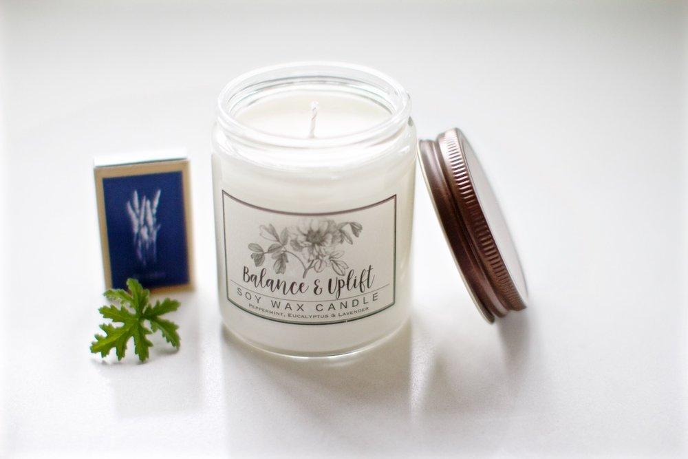 Balance and uplift candle