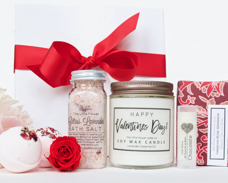 f730c5aa3346 Valentines Day Spa Gift Box- Handmade Aromatherapy Spa Gift Basket for Women