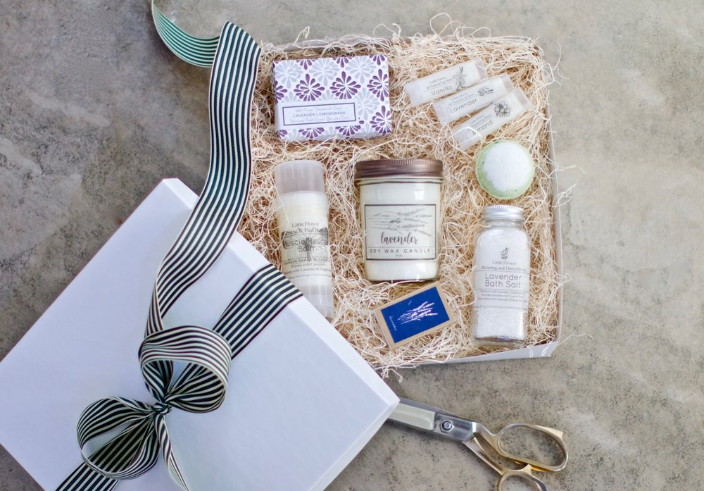 Mothers Day Luxury Spa Gift Set - Self Care Gift $62    One Stop Shopping this Substantial 10 x 10 gift box will have her curious when it walks through the door on Sunday May 12th… What could be in that beautiful box with that BEAUTIFUL RIBBON … well its a little bit of everything. A complete Spa Day / Me Day home relaxation kit.  Spoil her !! Makes a great Mother's Day gift from son.
