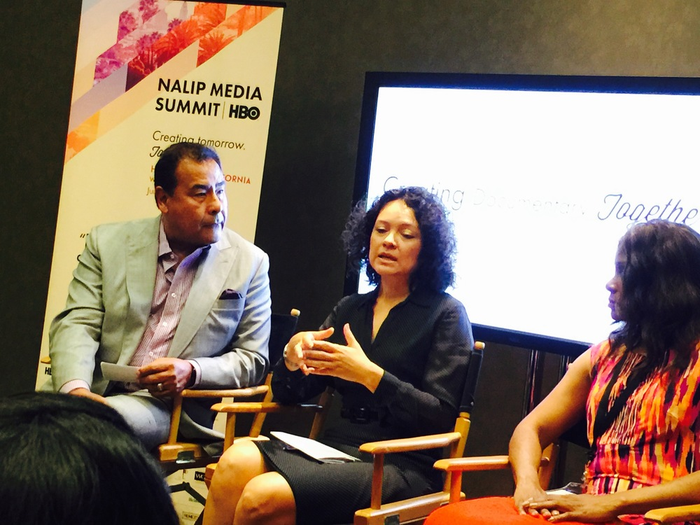 NALIP Media Summit panel   Unconscious Bias: Bridge the Latino Media Gap  . L-R:  Delia de la Vara , NCLR,  Judith Williams , Google. Not shown  Joseph A. Torres , Free Press,  Christy Haubegger , CAA.