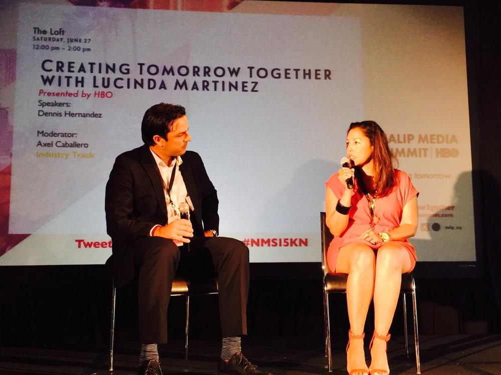 Moderator  Axel Caballero ,NALIP.  Lucinda Martinez , HBO