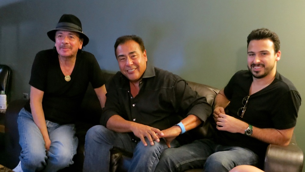 With Carlos Santana and Julian Quiñones
