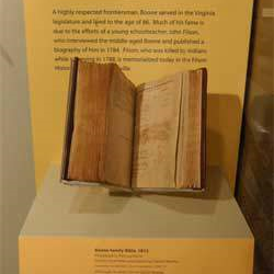 The family bible of legendary pioneer Daniel Boone.