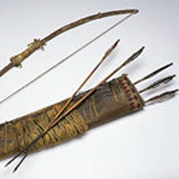 Self Bow and Quiver with Arrows, attributed to Geronimo, the great Apache leader.