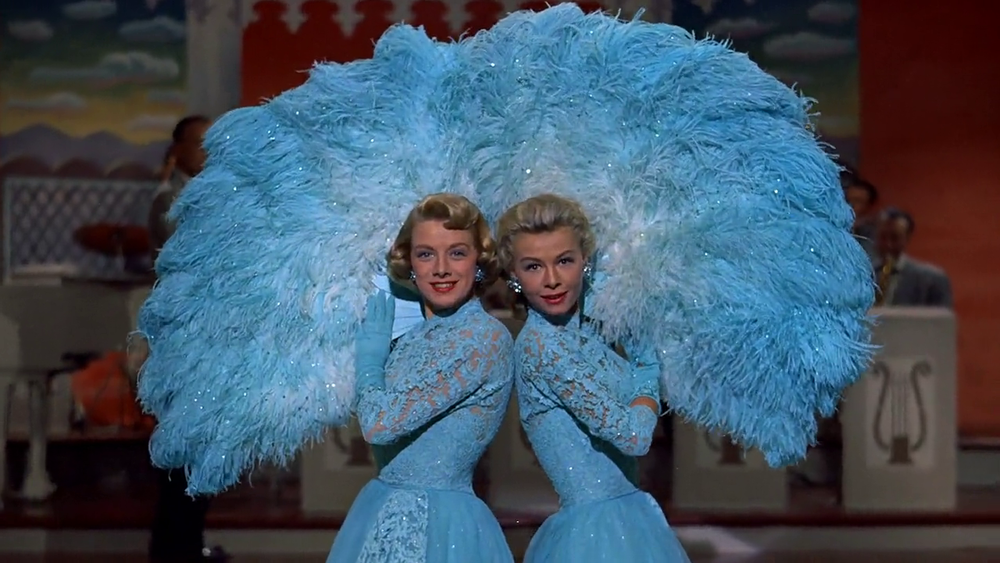 "The fabulous blue dresses from the ""Sisters"" performance in White Christmas will be displayed."