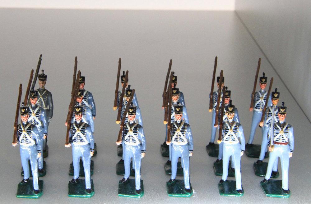 West Point Cadets, Summer Dress, W. Britain Set#299, 1927-1941