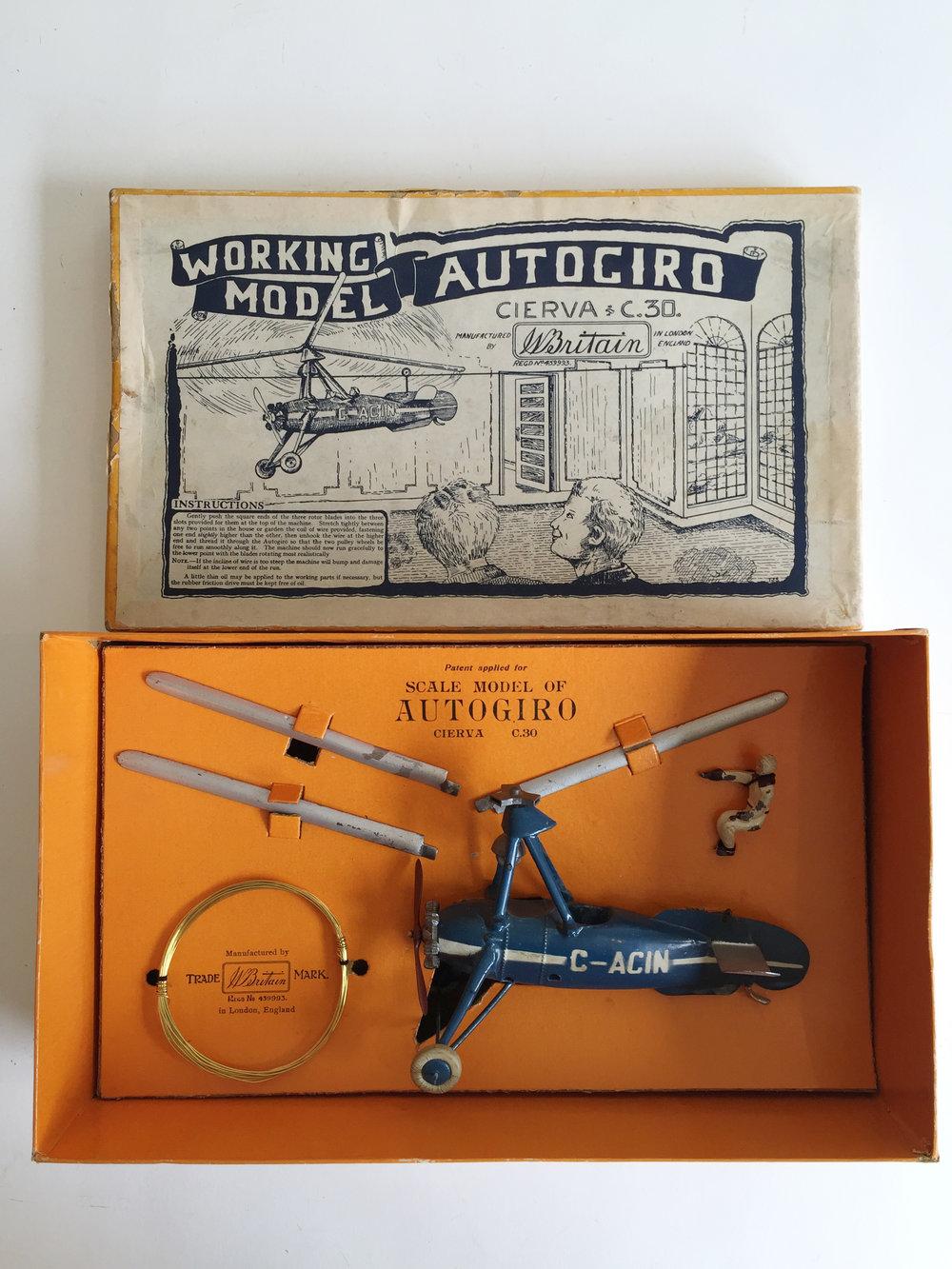 W. Birtain Set #1392 Civilian Autogiro