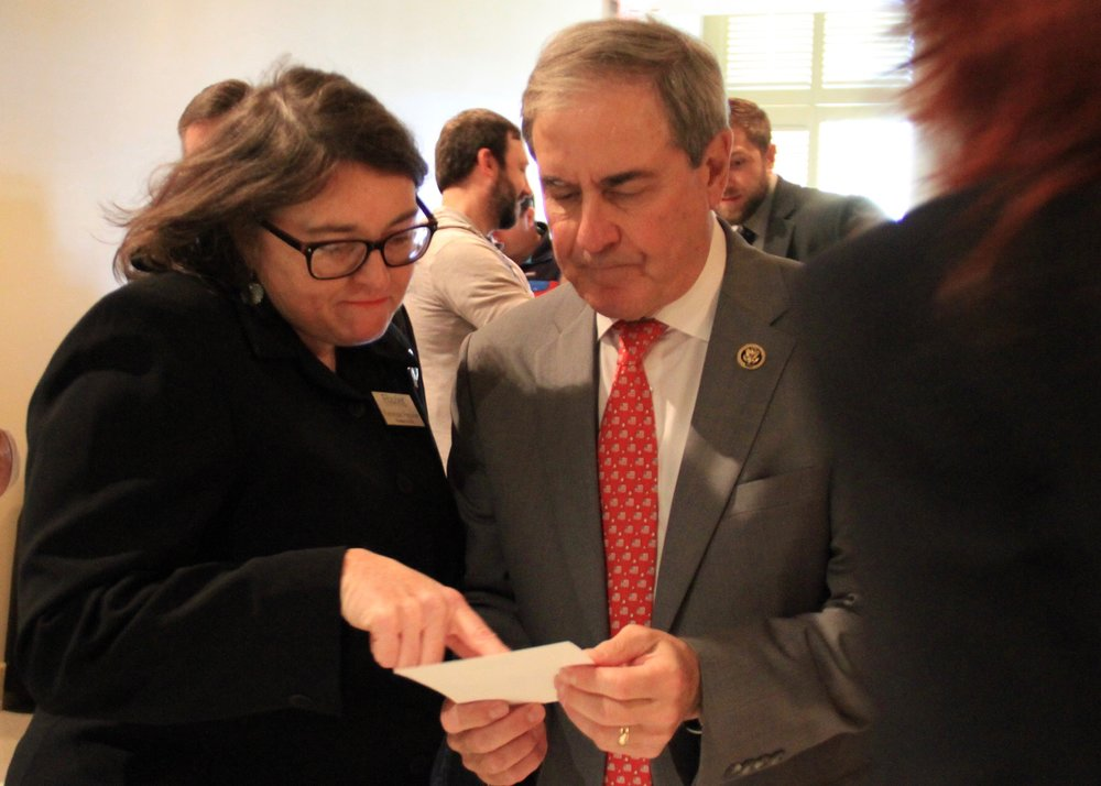 Frazier President and CEO Penny Peavler  with Congressman John Yarmuth.