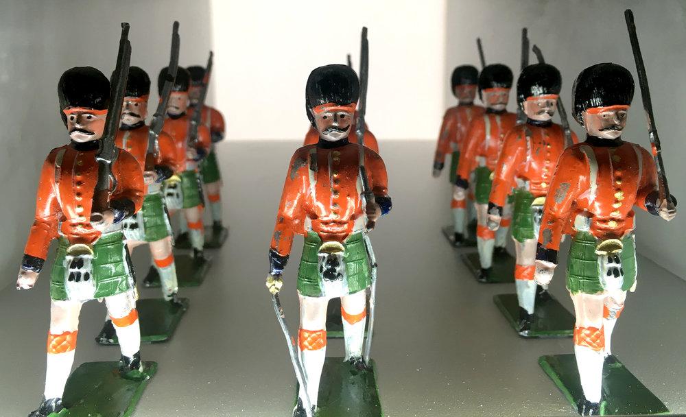 Heinrichsen Highlanders, Solid Pewter Figures
