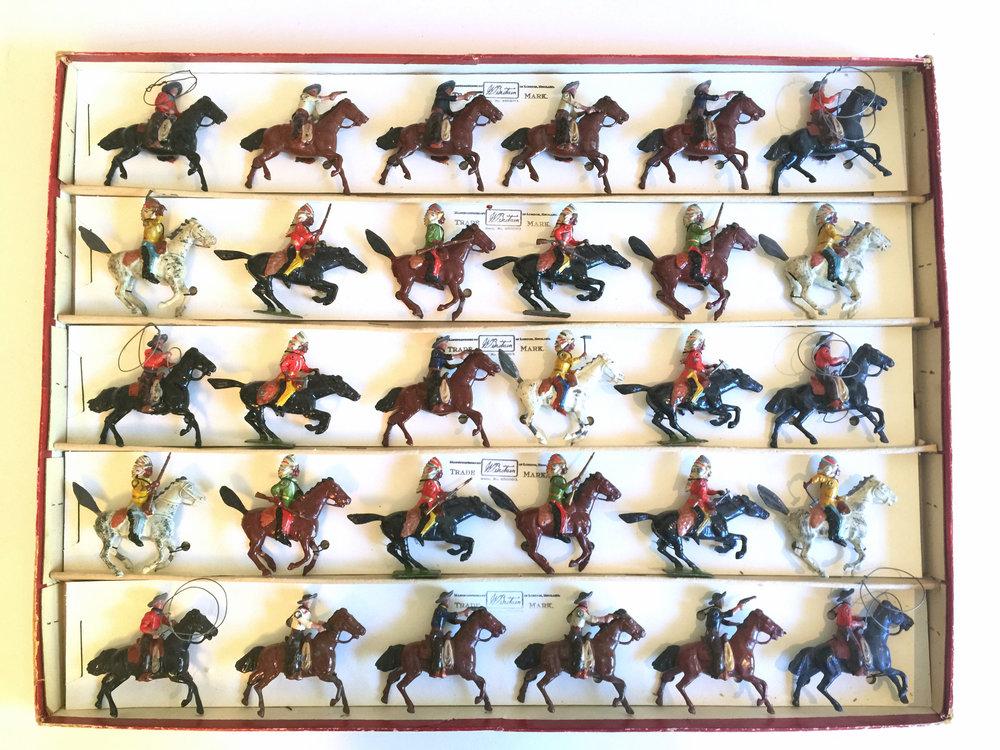 W.BRITAIN_Very Rare Indians and Cowboy Display.jpg