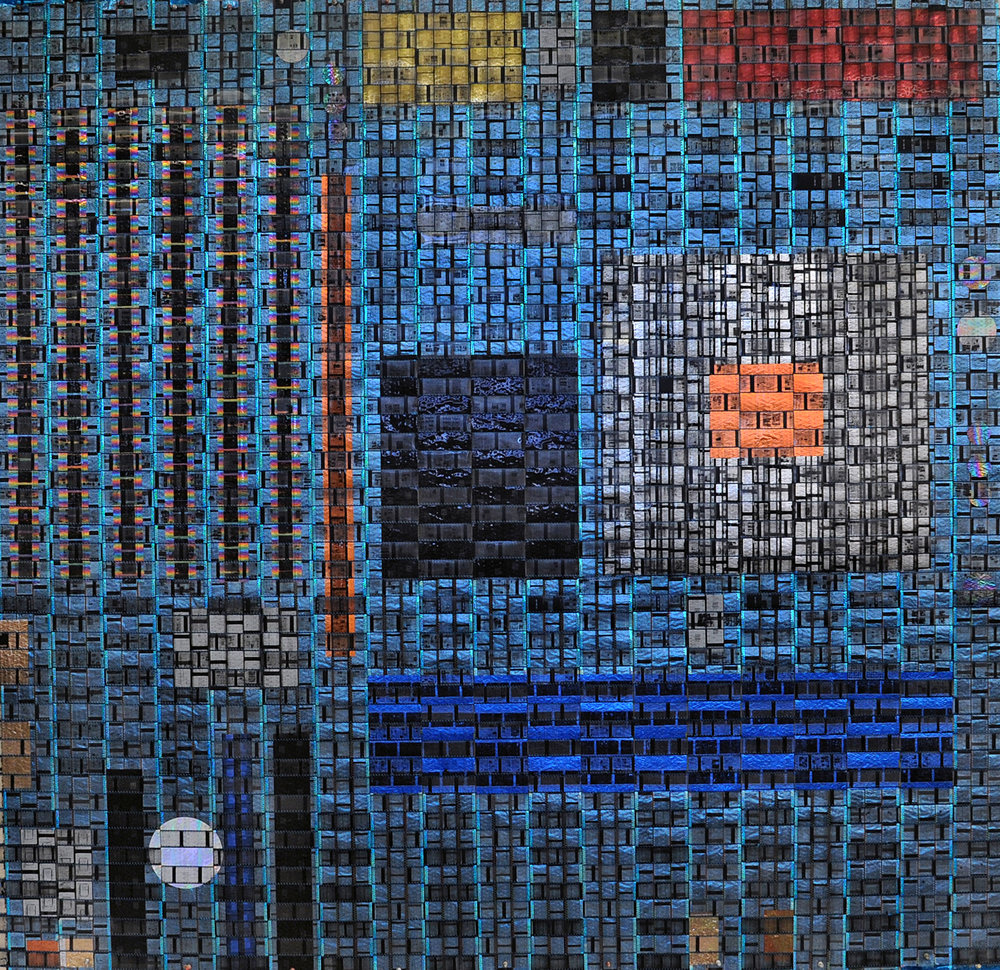 """Pattern Fusion No. 12: Motherboard 3"" by Arturo Alonzo Sandoval. 2009. Mixed media."