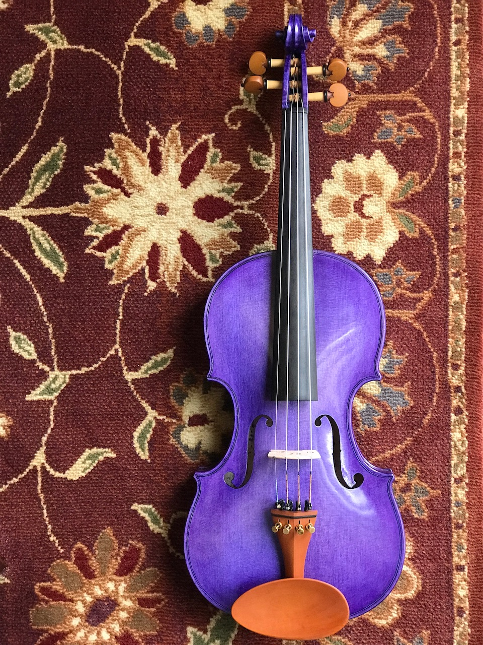 """Violin"" by George Wakim. 2017. German spruce and German curly maple."