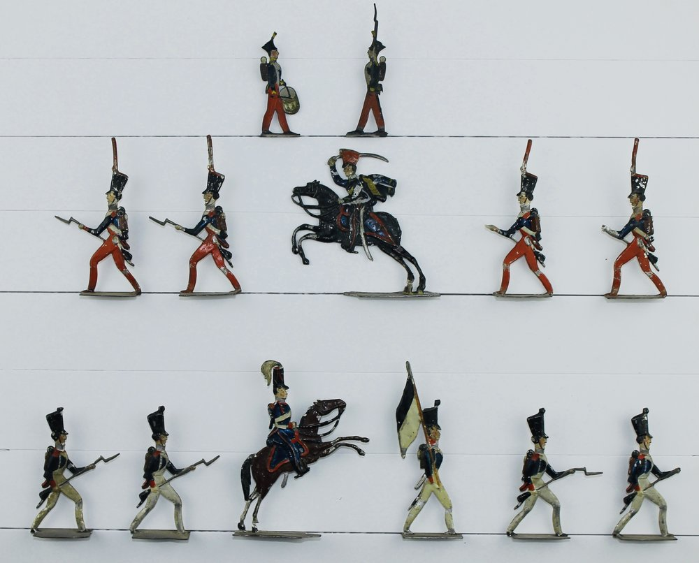 Unknown, Napoleonic French Troops, c. mid-to-late 19th c. Early tin flats, 40–50 mm.