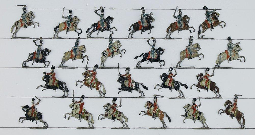 Erik Lodin, Finland, European Cavalry, c. 1780–1801. Rare tin flats, 30 mm.