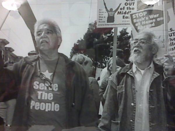 Bill Sorro with poet Al Robles
