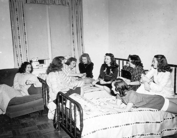 Chi Omega Dorm Room 1945
