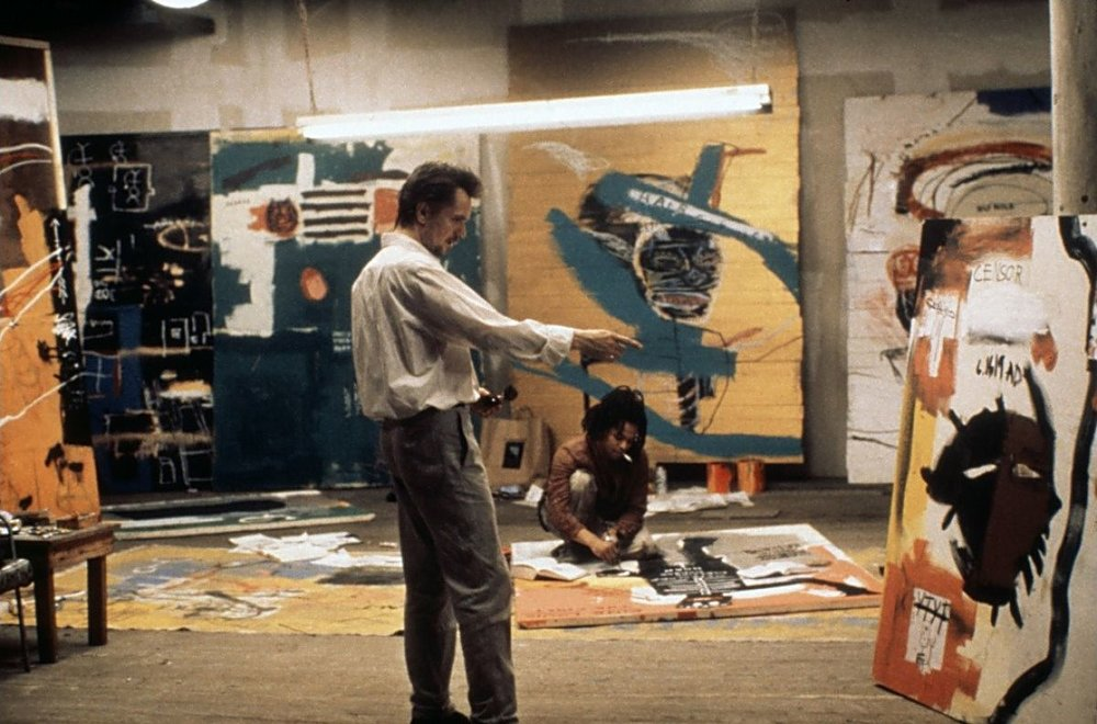 "BASQUIAT (1996) Basquiat tells the story of the meteoric rise of youthful artist Jean-Michel Basquiat. Starting out as a street artist, living in Thompkins Square Park in a cardboard box, Jean-Michel is ""discovered"" by Andy Warhol's art world and becomes a star. But success has a high price, and Basquiat pays with friendship, love, and eventually, his life."